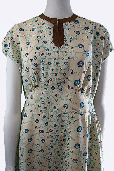 1960s Valentino Floral Silk Dress
