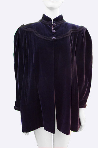 1970s Yves Saint Laurent Velvet Jacket