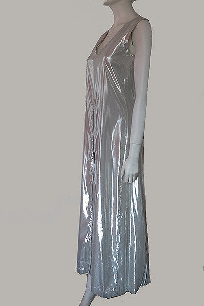 1990s Issey Miyake Silver Dress with Rainbow Zippers