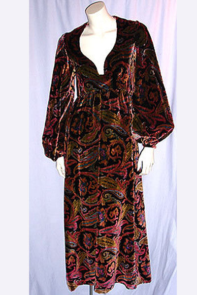 1960s Donald Brooks Velvet Dress