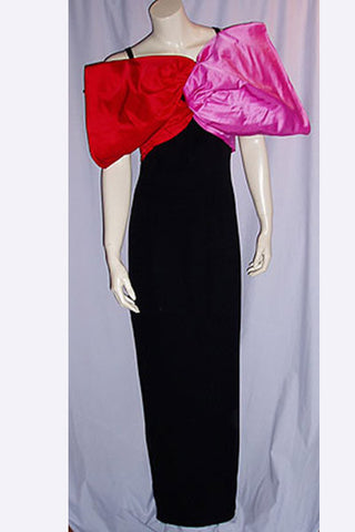1980s Bill Blass Bow Dress