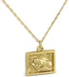 2018 Pendant with Chain in 10K Yellow Gold