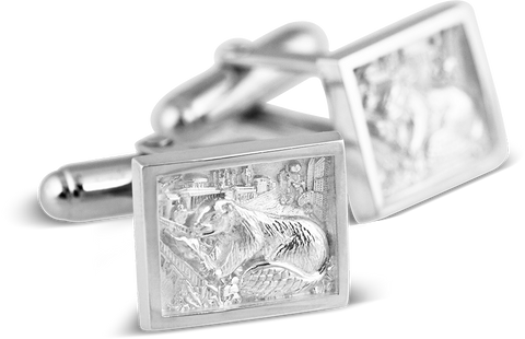 2017 Cuff Links in White Ultrium