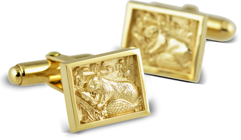2018 Cuff Links in 10K Yellow Gold