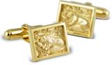 2017 Cuff Links in 10K Yellow Gold