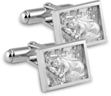 2018 Cuff Links in White Ultrium