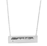 Boston Skyline (Front) in Sterling Silver