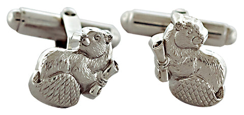 2021 MIT Mascot Cuff Links in Sterling Silver