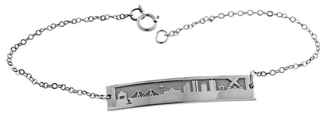 2021 MIT Boston Skyline Bracelet in Sterling Silver
