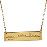 2021 MIT Reversible Skyline Necklace in Sterling Silver With Gold Overlay