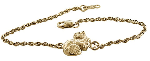 2021 MIT Mascot Charm Bracelet in Sterling Silver With Gold Overlay