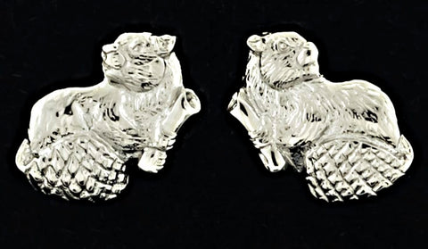 2021 MIT Mascot Stud Earrings in Sterling Silver
