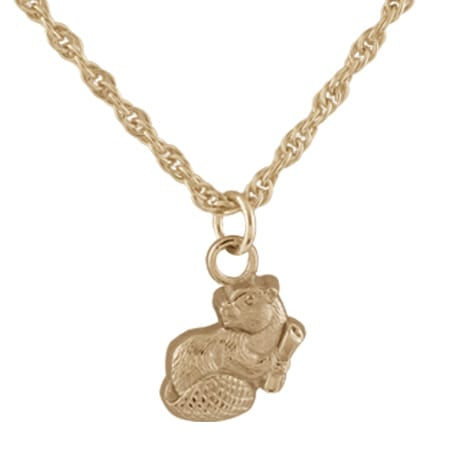 2021 MIT Mascot Pendant Necklace in Sterling Silver With Gold Overlay
