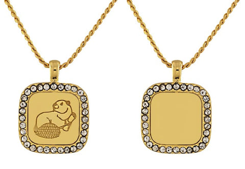 2021 MIT Reversible Pendant in Neck Gold Electroplate