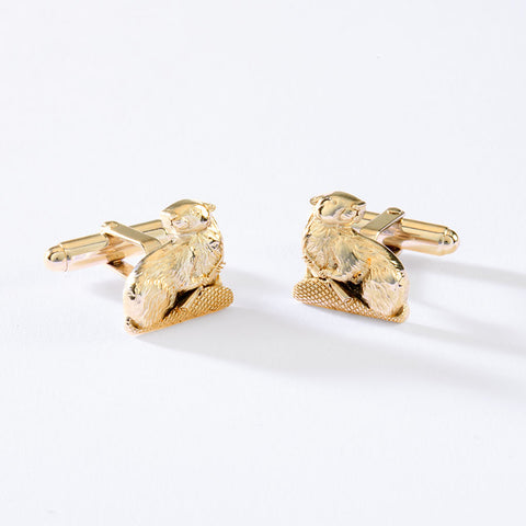 2022 MIT MASCOT CUFF LINKS IN 10KY GOLD