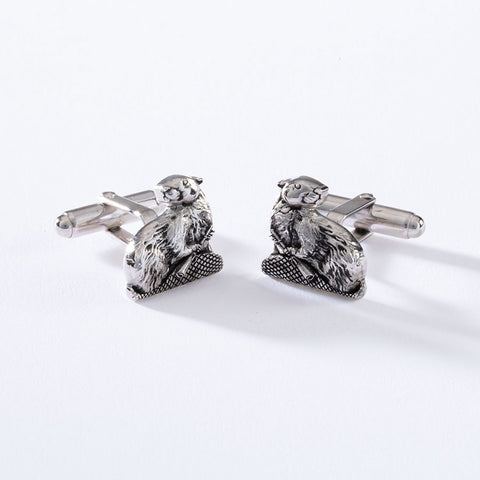 2022 MIT MASCOT CUFF LINKS IN STERLING SILVER