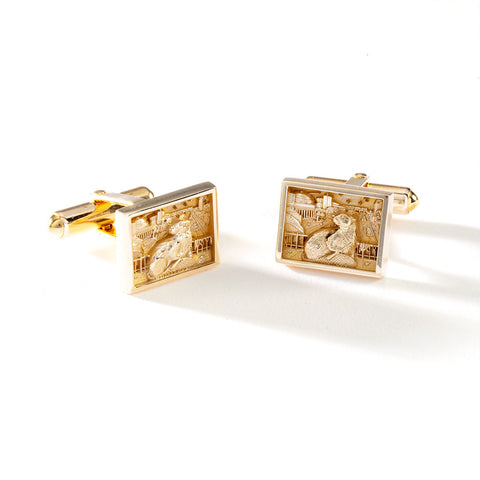2022 MIT BEZEL CUFFLINKS IN 10KY GOLD