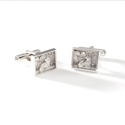 2022 MIT BEZEL CUFFLINKS IN STERLING SILVER