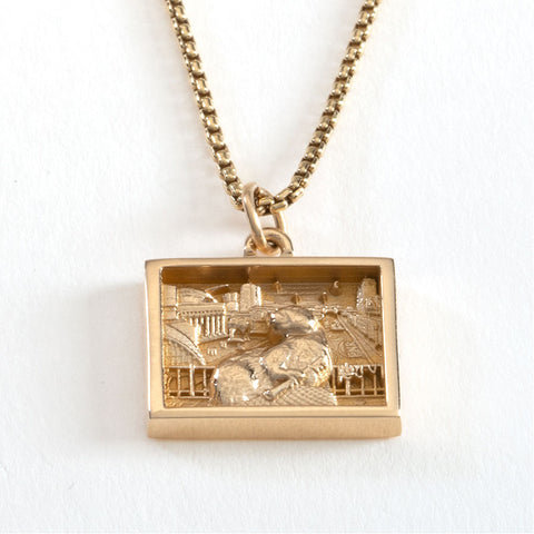 2022 MIT MED-BEZEL NECKLACE IN 10KY GOLD