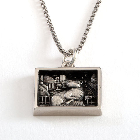 2022 MIT MED-BEZEL NECKLACE IN STERLING SILVER