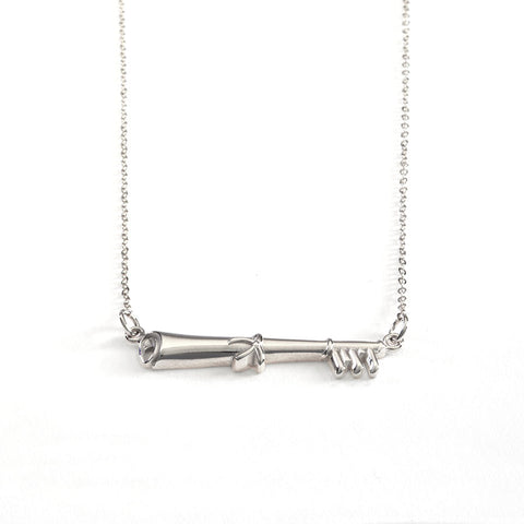 2022 MIT KEY NECKLACE IN STERLING SILVER