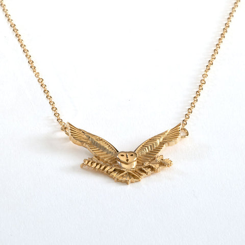 2022 MIT OWL NECKLACE IN STERLING SILVER WITH GOLD OVERLAY