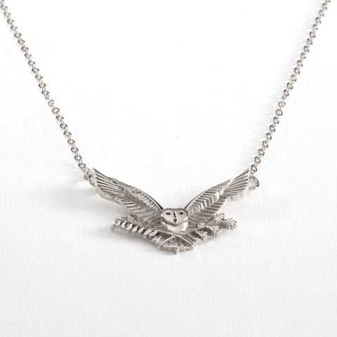 2022 MIT OWL NECKLACE IN STERLING SILVER