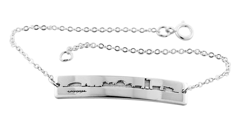 2021 MIT Cambridge Skyline Bracelet in Sterling Silver