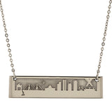 2021 MIT Reversible Skyline Necklace in Sterling Silver