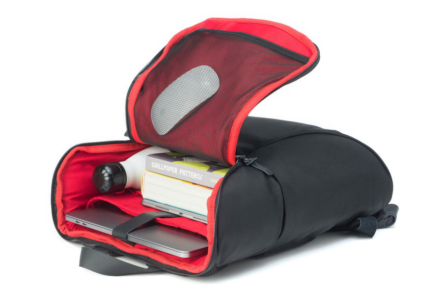 Daypack, black-red