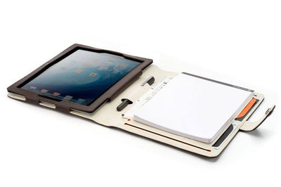 Nappa leather ipad-3-case-notepad for iPad 2-4