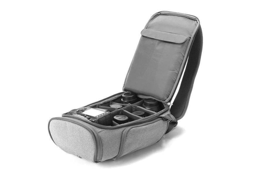 slimpack gray eco friendly camera bag