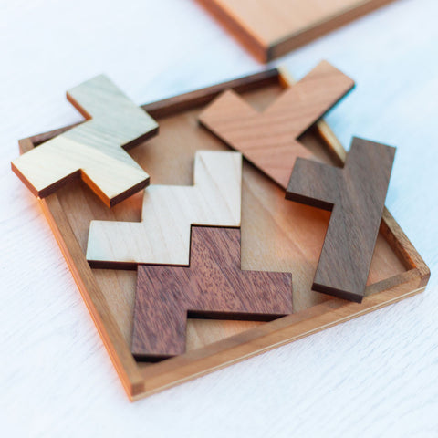 Five Fit Wooden Puzzle