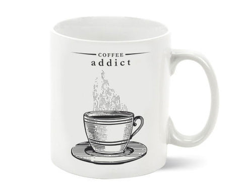 Coffee Addict Porcelain Mug