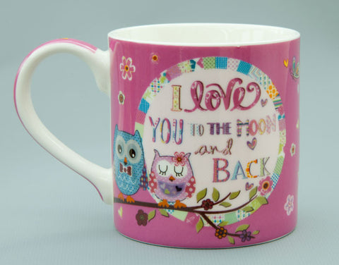 Cute Owls Love You to the Moon Mug