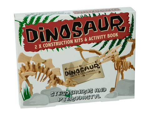 Dinosaur Construction Kits: Stegosaurus and Pterodactyl