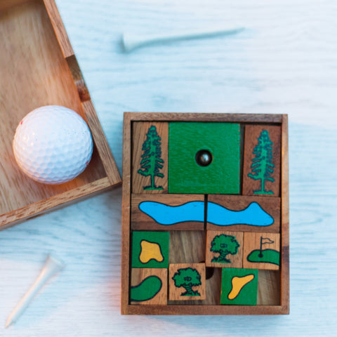 Golf Hole-in-One Wooden Slider Puzzle