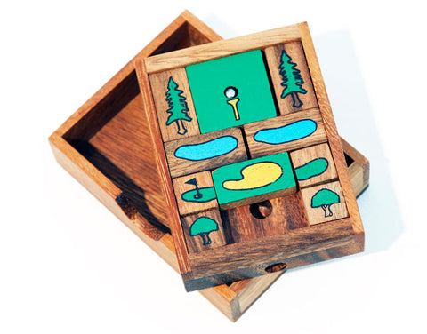 Golf Hole In One Wooden Slider Puzzle