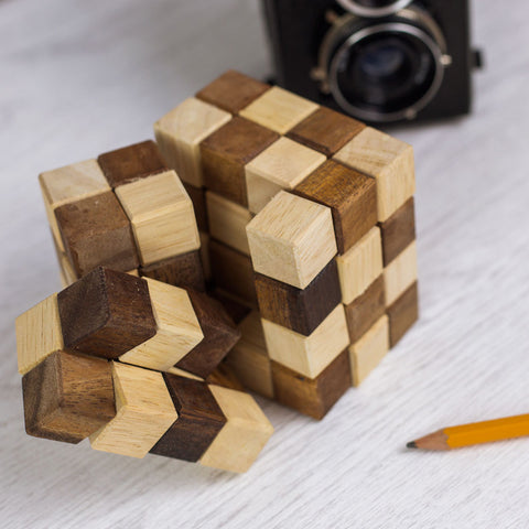 King Snake Wooden Cube Puzzle