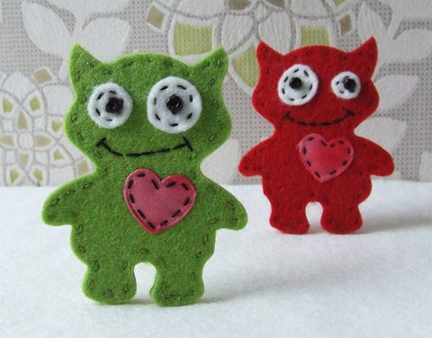 Monster Brooch Sewing Kit