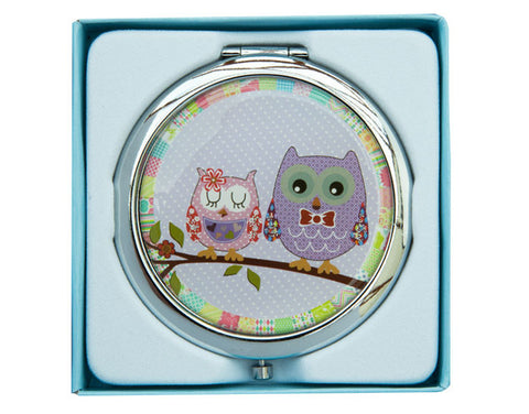 Cute Owl Compact Mirror
