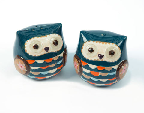 Priscilla Owl Salt & Pepper Shaker Set