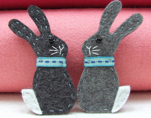 Rabbit Brooch Sewing Kit
