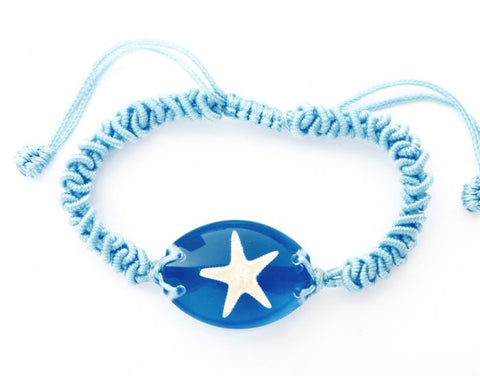 Larger Blue Starfish Bracelet