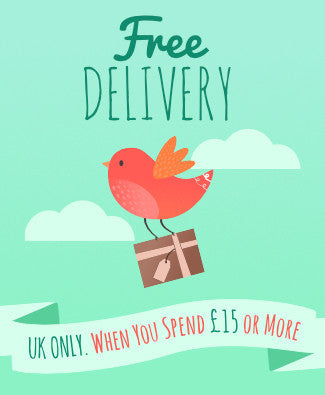 Free UK Delivery when you spend £15 or more