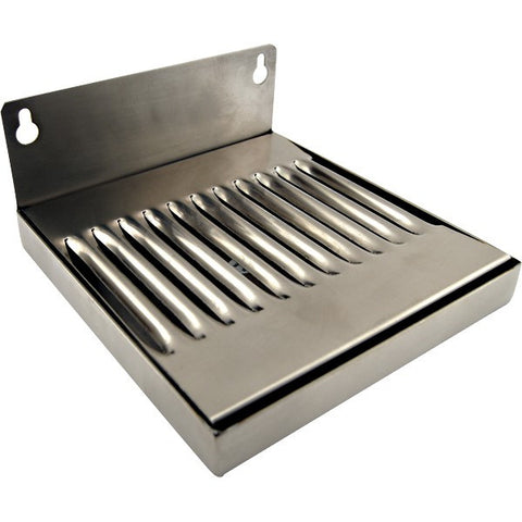 STAINLESS STEEL WALL MOUNTED DRIP TRAYS - NO DRAIN