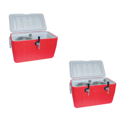 PLASTIC PICNIC COOLERS WITH STAINLESS STEEL COIL