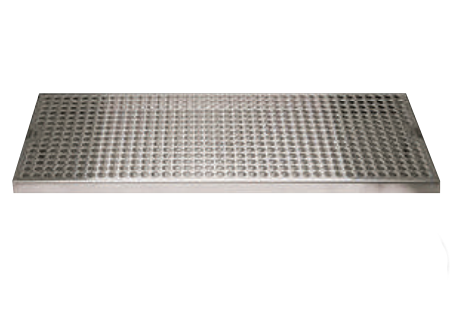 "STAINLESS STEEL WITH DRAIN - 7"" WIDE"