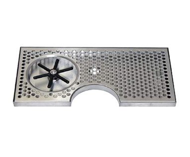 STAINLESS STEEL TRAYS WITH CUT-OUT AND GLASS RINSER