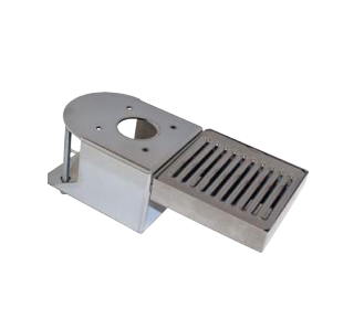 CLAMP-ON TOWER BRACKET WITH DRIP TRAY